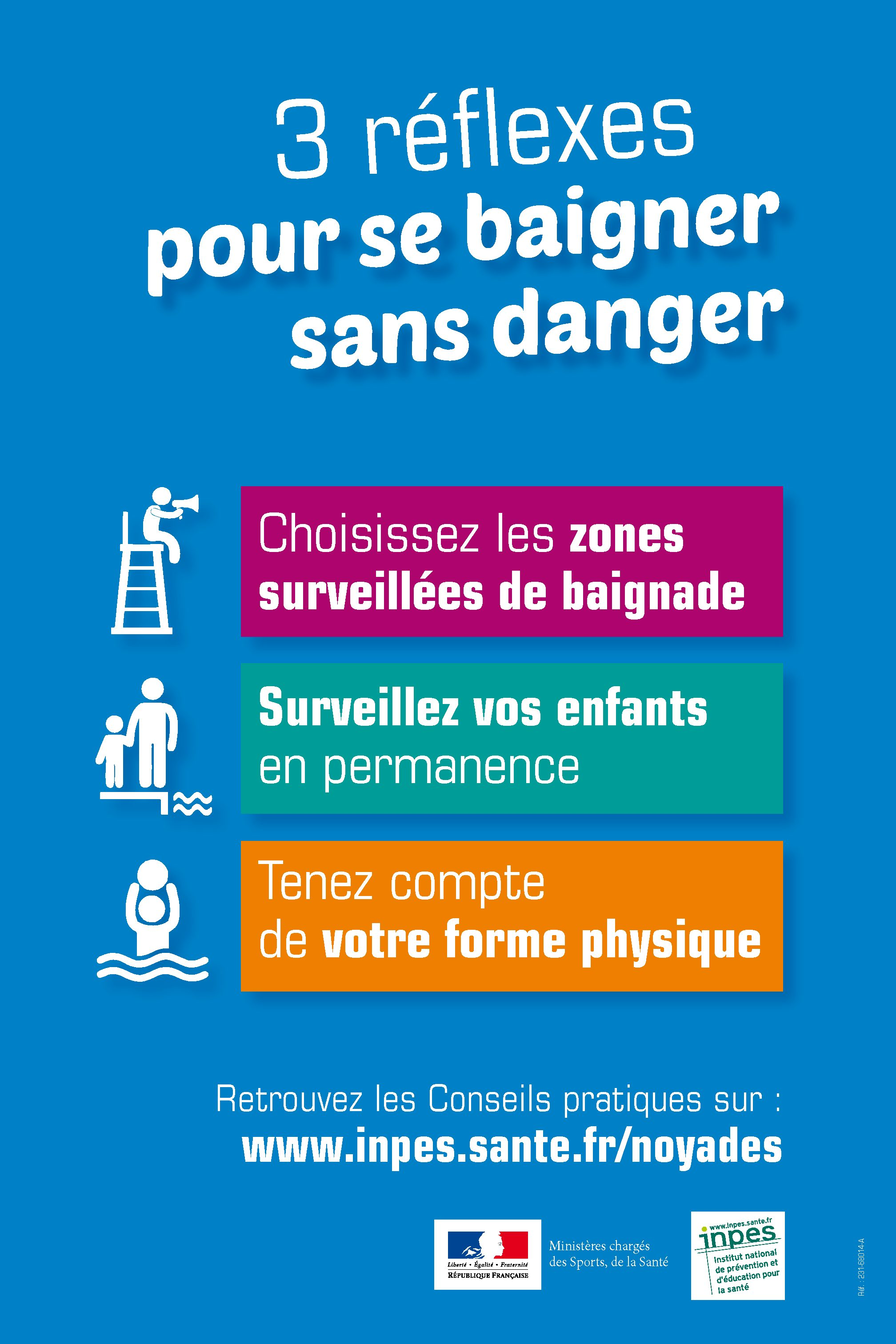 Campagne de prévention des risques liés à la baignade